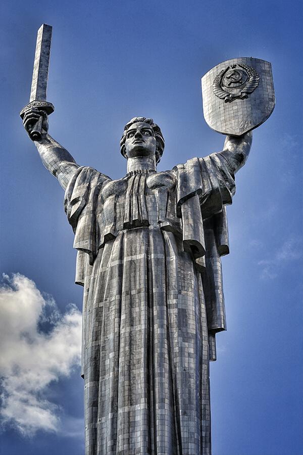 Mutter-Heimat-Statue in Kiew, Ukraine